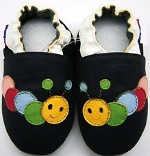 soft sole leather baby first walking shoes caterpillar navy 12-18m Minishoezoo