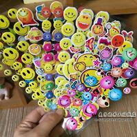 Random 100sheets smile stickers lot Kindergarten teacher reward kids crafts Gift