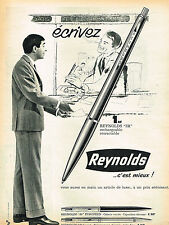 PUBLICITE ADVERTISING 035  1962  REYNOLDS   stylo billle