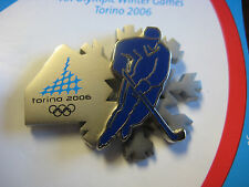 Torino 2006 Olympic Pin - Hockey Player Double