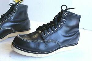 Red Wing Men's Heritage Moc Boots 8130 Black Leather. USA Made Size 12 D
