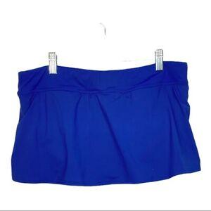 Lands End Swim Skirt Attached Bikini Bottom Blue Size 14