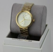 416f11f6cf8e NEW AUTHENTIC MICHAEL KORS GARNER CHRONOGRAPH GOLD LADIES WOMEN S MK6408  WATCH