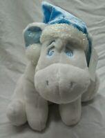 "Disney Store Winnie the Pooh SNOWFLAKE WHITE EEYORE 11"" Plush STUFFED Toy NEW"