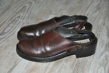 Joseph Seibel Betsy Dakota Brown Leather Clogs  Strap UK 40 6