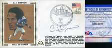 Oj Simpson PSA DNA Coa Autograph Hand Signed 1985 HOF FDC Cache