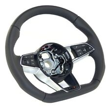 Audi TT TTS Type 8S genuine MFA Sport Steering Wheel flattened Leather black New
