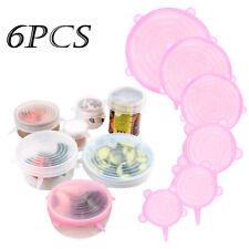 6pcs reutilizable Smiley Silicone Stretch Bowl Cover Seal Cocina Mantener los