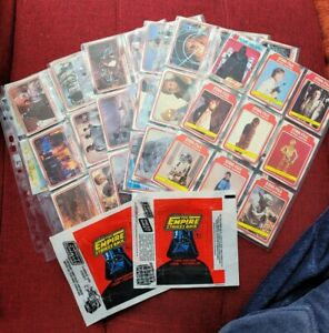 Topps 1980 Star Wars Empire Strikes Back Series 1, Full 132 Card Set + Wrappers