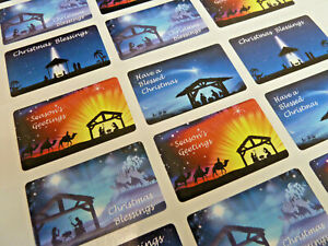 Christian Religious Christmas Nativity Stickers Labels for Cards & Craft X50306