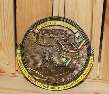 Italian Gallipoli naval squad finance police brass plaque