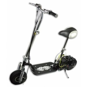 """Foldable Mini Petrol Scooter With Seat & Suspension - 9"""" Tyres  - 35 KM/h"""