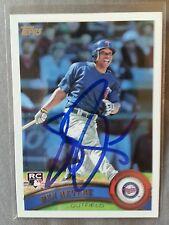 Ben Revere Twins / Philadelphia Phillies Signed 2011 Topps Baseball Rc #99