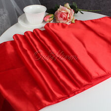 5×Party Wedding Table Runner Luxury Satin Table Runners Tablecloth Cover Decor