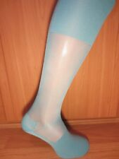 OTC SMOOTH Sheer Nylon Socks AQUA BLUE colour.