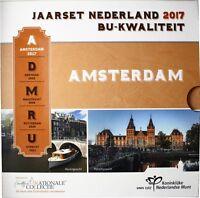 Niederlande 2017 KMS 1 Cent bis 2 Euro Amsterdam im Folder