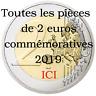 Toutes les pièces de 2 euros commémoratives 2019 ICI
