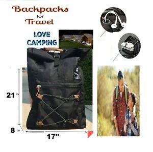 "LOT 2 BACKPACK COLOR BLACK  21"" BAG  school,travel camping  Backpack OUTDOOR NEW"