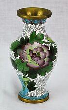 Vintage Chinese Floral Cloisonne Vase. (BI#MK/170505)