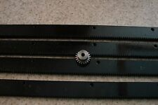 "CNC Stepper motor mech Rack & Gear 96"" Rack (4x24""pcs) & a 20T 1/4"" pinion gear"