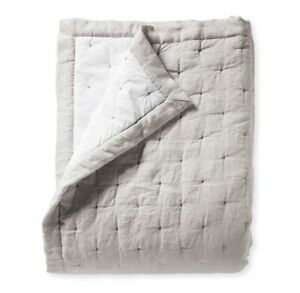 NWT $398   Serena & Lily Sutter Linen Quilt   King/Cal King   Fog/Gray