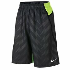 Nike Men's Fly 3.0 Football Training Shorts Grey Volt 667446-060 Size Medium