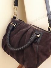 Banana Republic Handbag Brown Suede Hobo Shoulder Spotless NWOT 👜