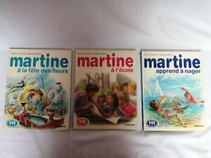 lot de 3 livres enfant Martine à l'école apprends à nager à la fête des fleurs