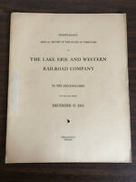 1914 28th Annual Report Lake Erie Western Railroad Company Stockholders Map