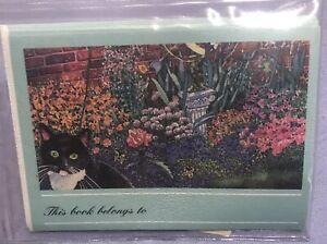 Bookplates - Cat In Garden