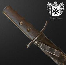 Rare Early 1935 WW2 Italian MSVN Combat Knife / Dagger w Original Sheath