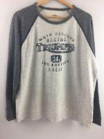 Lucky Brand Triumph Sweatshirt XL Mens Raglan Style Racing Motorcycle Gray