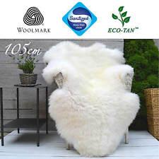 New Ultra-Fleece Sheepskin Rug Premium Grade SINGLE 105cm+ ECO-TAN SANITIZED