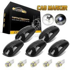 5x264146BK Smoke Lens T10 White LED Roof Cab Maker Running Lights For Dodge Ram