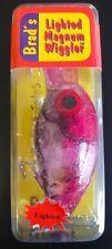 Brads Killer Fishing LIGHTED MAGNUM WIGGLER.WMW-440-LT PURPLE/RED CRAW.