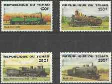 Timbres Trains Tchad 456/9 * lot 3687