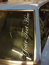 PERSONALISED TEXT Windscreen Sticker JDM DRIFT STANCE VW DECAL GOLF CORSA CIVIC