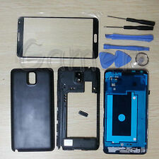 Full Housing Case + Glass Lens + Tools For Samsung Galaxy Note 3 N900A ATT Black