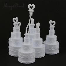 2 White Wedding Cake Party Reception Bubble Bottle Table bomboniere favour kids