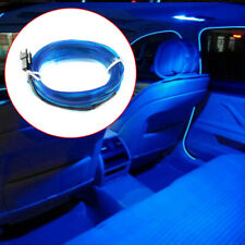 2M Blue 12V Car LED Wire Light Strip Interior Atmosphere Lamp Decor Accessories