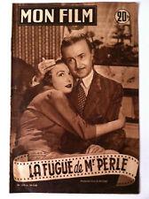 """>Mon Film 29/7/53 """"La Fugue de Mr Perle"""" Noël-Noël et Ariette Poirier"""