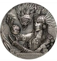 QUETZALCOATL Gods Of The World 3 Oz Silver Coin 20$ Cook Islands 2017