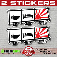2x EAT SLEEP JDM sticker decal vinyl funny drift stickerbomb nissan sx nismo evo