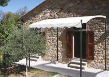 VERDELOOK Pergola Gazebo in ferro verniciato 2x3m bianco copertura e arredo