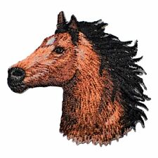 Horse Head Applique Patch - Facing Left (Iron on)