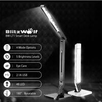 BlitzWolf 15W LED Smart Lámpara de Mesa Flexo iluminación Lectura Luz Desk Lamp