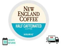 New England Half Caffeinated Keurig Coffee K-cups YOU PICK THE SIZE