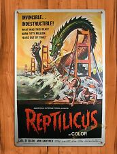 "TIN-UPS Tin Sign ""Reptilicus"" Vintage Movie Art Poster"