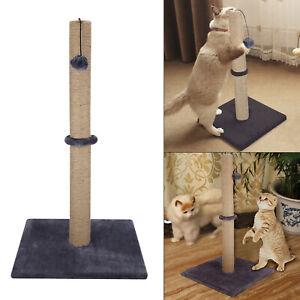 74CM  Grey Cat Kitten Extra Tall Sisal Scratching Scratcher Post  Supplies