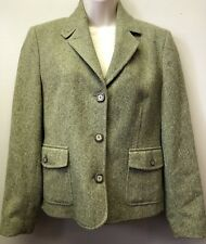 New L L Bean Women's Petite Small Wool Silk Sweet Pea Green Blazer Jacket Coat